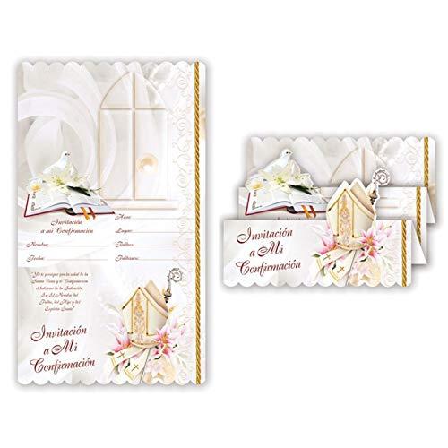 (DPW Comfirmation Party Invitations Spanish Invitaciones Religious Holy Spirit Girl Boy Fiesta 10PC with Envelopes)