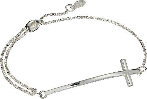 Cross Pull Chain Bracelet Sterling Silver One Size ()