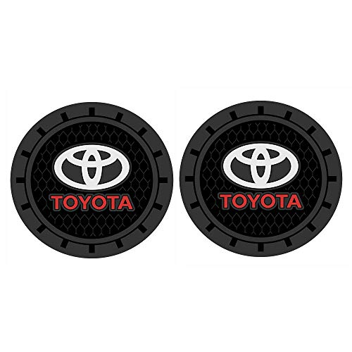 Yuanxi Electronics 2 Pcs 2.75 inch Car Interior Accessories Anti Slip Cup Mat for Toyota All Models