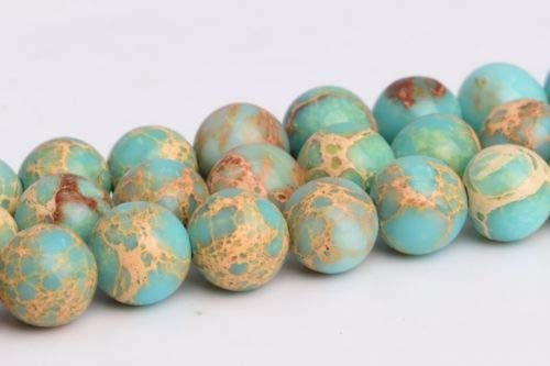 4mm Natural Faint Blue Sea Sediment Imperial Jasper Round Loose Beads 15.5'' Crafting Key Chain Bracelet Necklace Jewelry Accessories Pendants