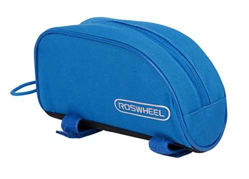 Roswheel 12654 Bike Frame Bag Bicycle Top Tube Pannier Cycling Accessories Pack, Azure Blue