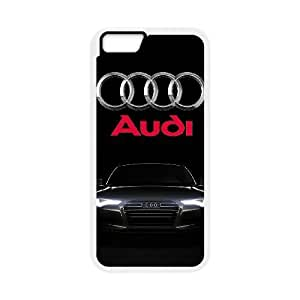 iPhone 6 Plus 5.5 Inch Cell Phone Case White Audi Plastic Durable Cover Cases derf6978840