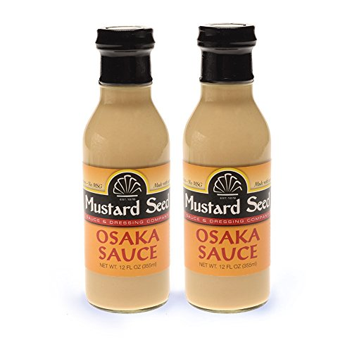 Mustard Lemon Sauce (Osaka Sauce | Asian Lemon-Chinese Mustard flavors | All Natural, No Trans Fats, MSG's or Preservatives | (12 Oz/2-Pack) | Stir Fry | Marinade | Dipping Sauce)