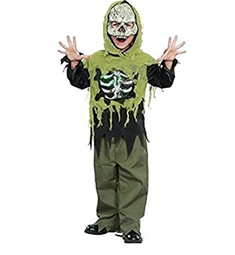 Kids Walker Costume (Costume Light Up Skeleton Boys Girls LARGE 10-12 Zombie White Walker Walking Dead)