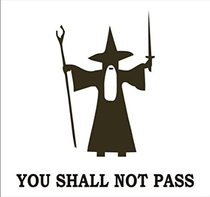 You shall not pass gandalf vinyl decal sticker includes squeegee brown