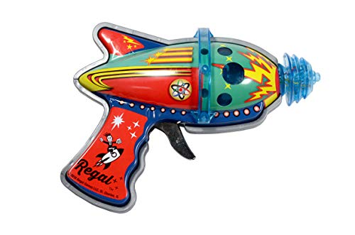 Tin Atomic Space Blaster with Revving Gears and