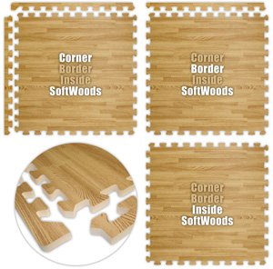 Floor Pad, SoftWoods, Light Oak, 16' x 20' Set, Total Sq. Ft.:320