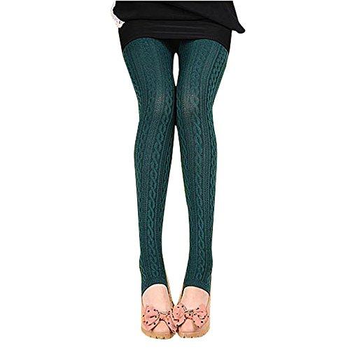 Pants,Han Shi Women Fashion Free size Comfortable Cotton Tights Leggings Stirrup Trousers (A, Navy)