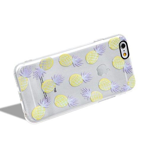 Custodia per iPhone 6/6S Silicone Morbida Transparente - Girlyard Colorata Sottile Gel TPU Antiurto Protezione Cover Case per Apple iPhone 6S/6 4.7 Telefono Caso con Pellicola Protettiva e Penna (Ana