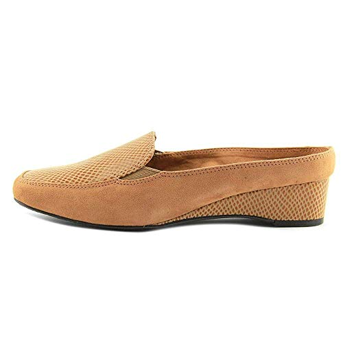 J.Renee Womens Edlyn Suede Square Toe Mules, Cuoio, Size 8.0