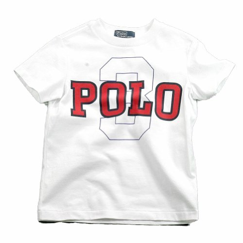 Polo By Ralph Lauren Youth Boy's Cotton Polo Graphic T-Shirt (Small - 8, White)