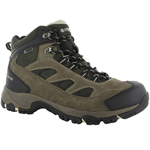 (Hi-Tec Men's Logan Waterproof Hiking Boot,Smokey Brown/Olive/Snow,9.5 M US)
