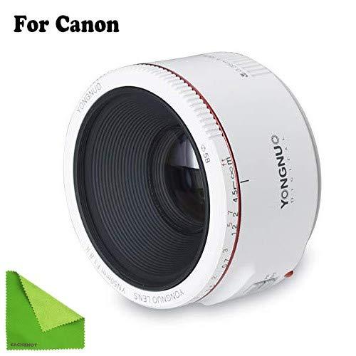 YONGNUO YN50mm F1.8 II Large Aperture Auto Focus Lens Small Lens Super Bokeh Effect Canon EOS 70D 5D2 5D3 600D DSLR Camera White