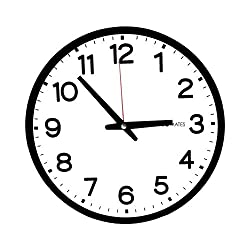 DecoMates Non-Ticking Silent Wall Clock, Modern House, Black and White