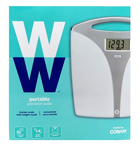 WW Scales by Conair Portable Precision Electronic Bathroom Scale with Handle