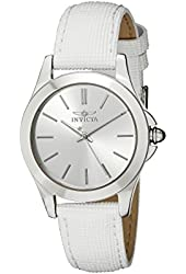 "Invicta Women's 15147 ""Angel"" Stainless Steel and White Leather Watch"