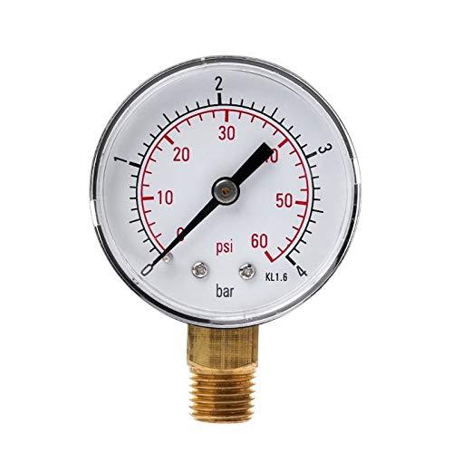 Susie-Smile - 0-60 PSI Mini Pressure Gauge Pool Spa Filter Water Pressure Measuring 1/4'' NPT by Susie-Smile
