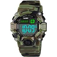 Boys Camouflage LED Sport Watch,Waterproof Digital Electronic Casual Military Wrist Kids Sports...
