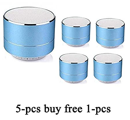 WILES P10 Wireless 3W Super Bass Mini Metal Aluminium Alloy Portable Bluetooth Speaker with Mic (Blue)