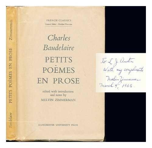 Petits Poemes En Prose French Classics Amazones Charles