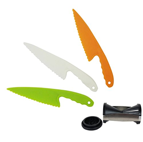 Best Serrated Bagel Knife & Veggie Spiralizer Cooking Kitchen Set Perfect Gift for Dad Daughter Back to College High School Accessories Ideal Gift Her Mom Wife Family Catering Kitchen Supplies