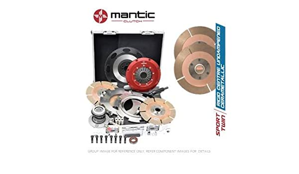 Mantic Track Premium Clutch Kit | Mantic Aluminium Billet Cover Assembly | Twin Cerametallic Clutch Plates featuring German Manufactured Friction Material, ...
