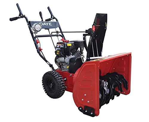 DAYE DS24E 24-inch 208cc Electric Start 2-Stage Snow Thrower Powered By LCT Gas Engine, 5-Star Rated Reviews by DAYE