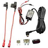 Meknic SV-PC01 Dash Cam Hardwire Fuse Kit with Hard wire Car Charger Cable For Car DVR Camera Power Supply Vehicle Hardwiring Kit GPS Car DVR Power Box-3.5M 11FT Installation Manual Include (Mini USB)