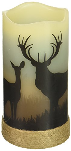 Deco Flair LED4398 Deer LED Wilderness Silhouette Candles (Led Deer)