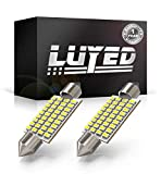 LUYED 2 X 430 Lumens Super Bright 3014 36-EX Chipsets 1.5 inches 36mm 6418 DE3423 DE3425 LED Bulbs Used For Dome light,Xenon White