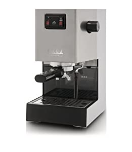 gaggia classic ri8161 coffee machine with professional filter holder stainless steel body. Black Bedroom Furniture Sets. Home Design Ideas