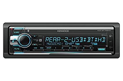 amazon com kenwood kdc bt768hd cd receiver with bluetooth and hd rh amazon com Kenwood Radior600 Kenwood User Manuals