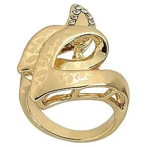 RNB Women's Gold Plated Flower Ring - 18