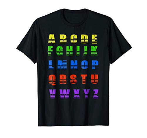 (ABC Colorful Alphabet Youth T-Shirt)