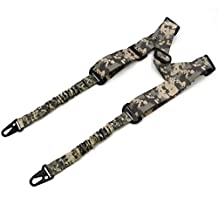 2 Point Rifle Sling, Length Adjustable Multi Use Gun Sling for Outdoor Sports, Hunting(Green)