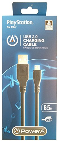 - PowerA USB Charging Cable for PlayStation 4