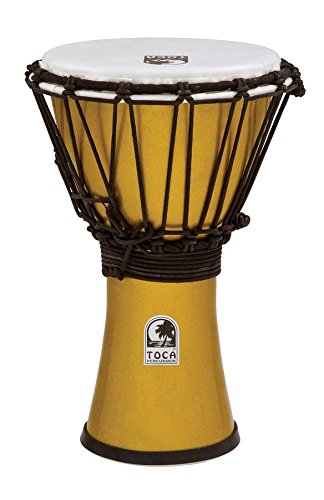 Toca Freestyle Color Sound Djembe - Metallic Yellow