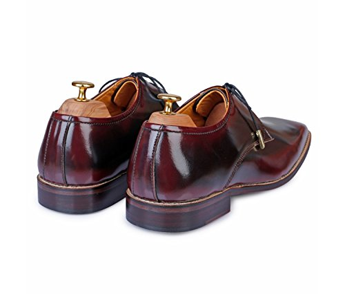Cherry Up Handcrafted Brush Oxford Off Lace Leather Dress Mens Genuine Shoes Lethato 4WvYFWz
