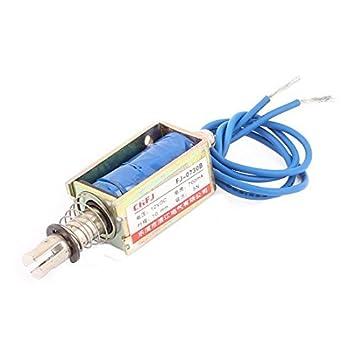 eDealMax DC12V 700mA 10 millimetri 5N Primavera del carico Push Pull attuatore elettromagnete solenoide FJ-