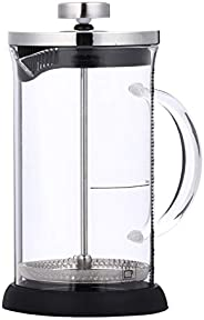 Cafeteira de aço inoxidável Hemoton, cafeteira francesa, cafeteira de prensa francesa, chaleira de vidro para