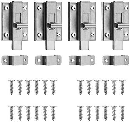 WiMas 4PCS cerraduras para puerta corredera de acero inoxidable, cierres perno de bloqueo, 3 pulgadas: Amazon.es: Bricolaje y herramientas