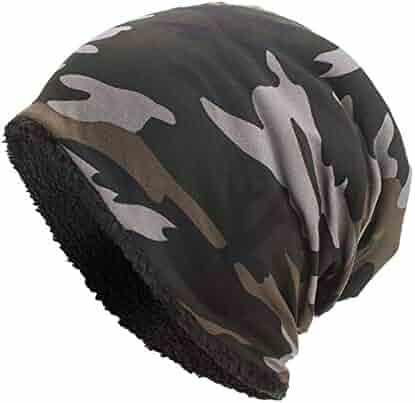 b21fefe30babe Kimloog Women Men Fleece Slouchy Beanie Hat Camouflage Warm Winter Ski  Skull Cap