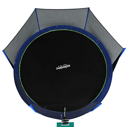 Zupapa Jumping Mat Replacement For 15 Ft Round Trampoline: Zupapa 15 14 12 FT TUV Approved Trampoline With Enclosure