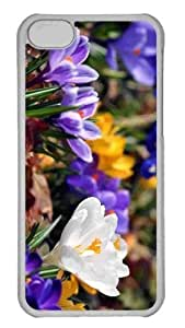 Customized iphone 5C PC Transparent Case - Crocus Flowers Spring Personalized Cover