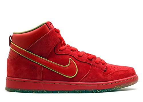 Nike Mens Dunk High Premium SB CNY Unvrsty RED/MTTLC GL Suede