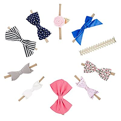 The Good Baby Girl Headbands and Bows, Assorted 10 Pack of Hair Accessories for Girls