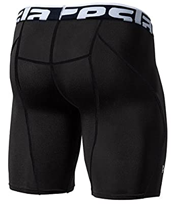 CLSL Tesla Men's Compression Shorts Baselayer Cool Dry Sports Tights S17-BLKZ_Large