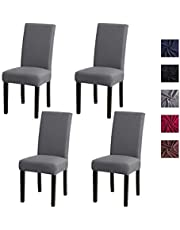 Elehealthy Stretchy Dining Chair Covers 6 Set, Nonslip Chair Slipcover Removable Chair Protector Cover Seat Slipcover for Dining Room Wedding Banquet Party Decoration
