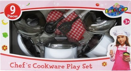 Lollipop Toys Chef's Cookware Play Set