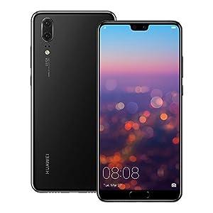 Huawei P20 EML-L29 128GB 4GB RAM, Dual SIM LTE, 5.8″, Full HD+ Display -Dual Camera 20 MP +12 MP, GSM Unlocked International Model, No Warranty (Black)